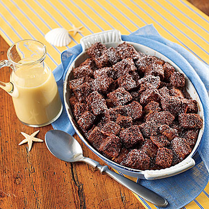 Chocolate Bread Pudding with Whiskey Sauce