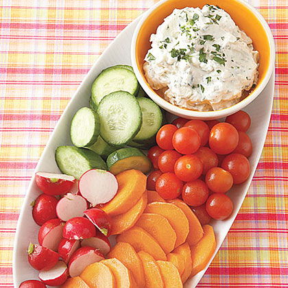 Crudités with Blue Cheese Dip