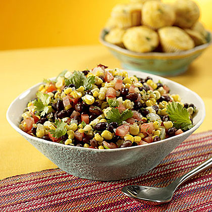 Roasted Corn, Black Bean and Tomato Salad