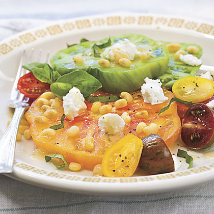 Heirloom Tomato Salad With Fresh Lady Peas