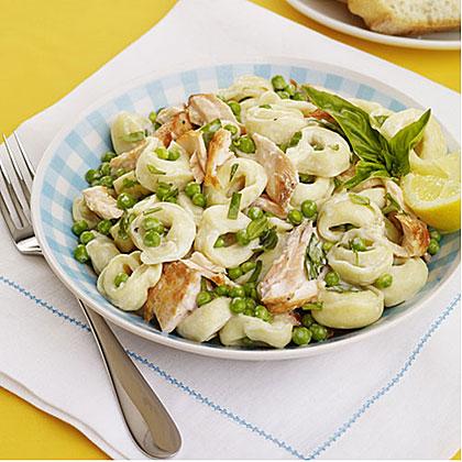 Tortellini Salad with Salmon and Peas