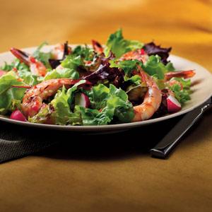 Tossed Greek Salad with Grilled Shrimp