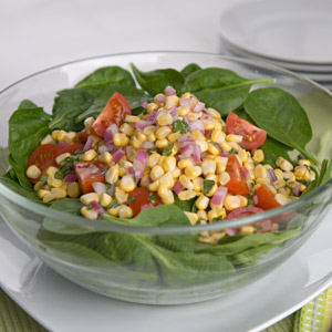 Summer Spinach and Corn Salad