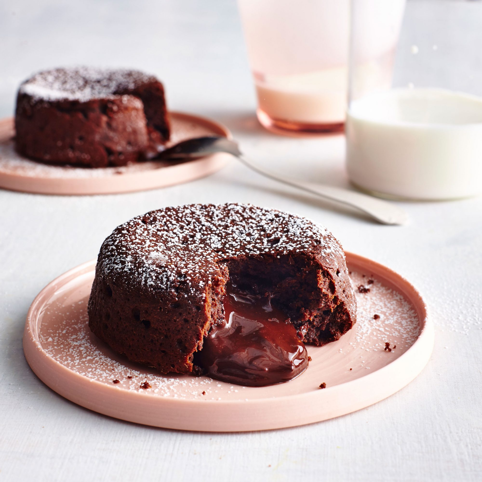 Molten Dark Chocolate Cakes
