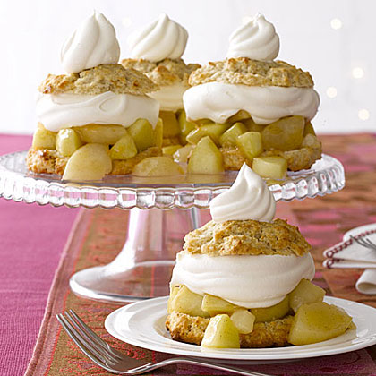 Pear and Apple Shortcakes