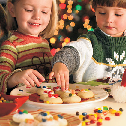 Jelly Bean Thumbprint Cookies