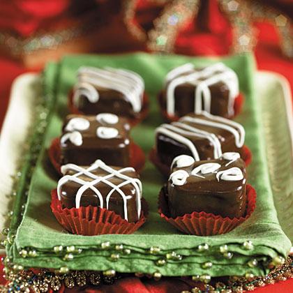 Chocolate-Raspberry Petits Fours