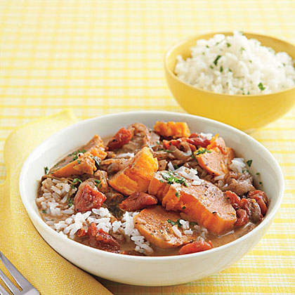 Slow-Cooker Peanut-Sweet Potato Stew