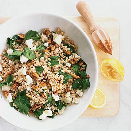 Barley Salad with Parsley and Walnuts