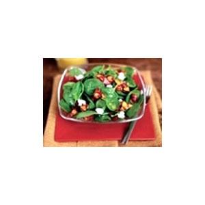 Spinach Salad with Candied Almonds & Lemon Vinaigrette