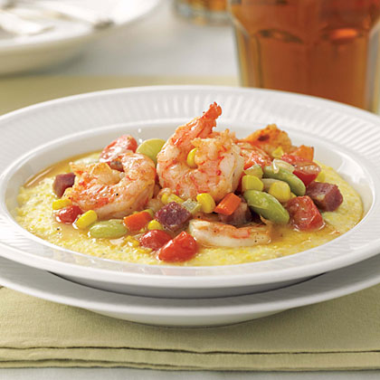 Shrimp and Grits with Succotash