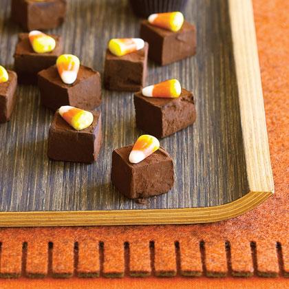 Chocolate Candy Corn Truffles