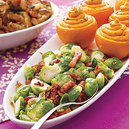 Brussels Sprouts with Caramelized Onions