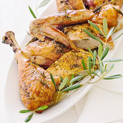 Roast Turkey with Wine and Herbs