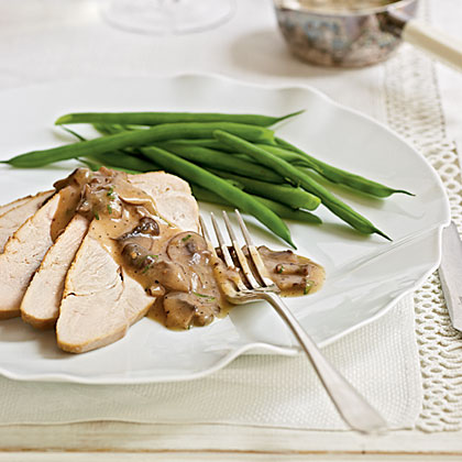 Maple-Brined Turkey Breast with Mushroom Pan Gravy
