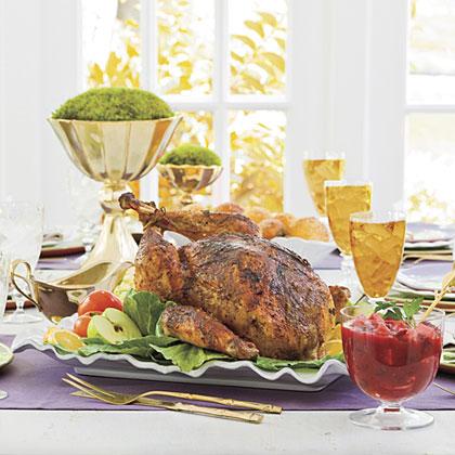 Roasted Dry-Rub Turkey With Gravy