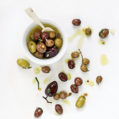 Citrus, Fennel, and Rosemary Olives
