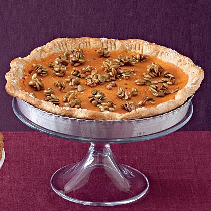 Sweet Potato Pie with Pumpkinseed Crunch