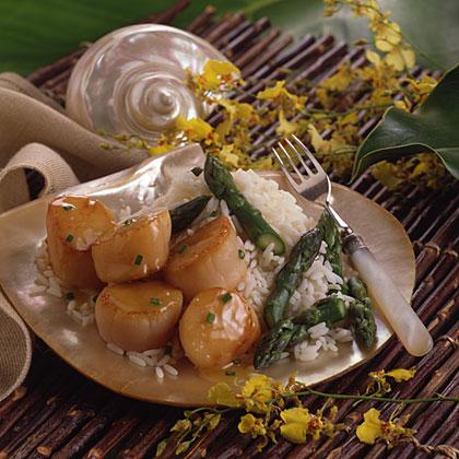 Champagne Scallops & Asparagus