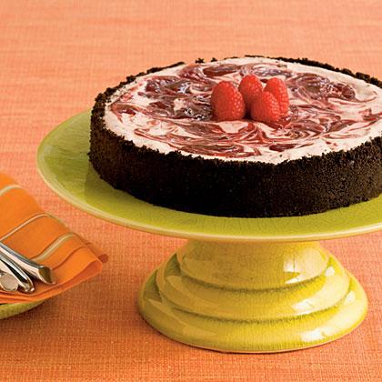 Raspberry Ice-Cream Pie