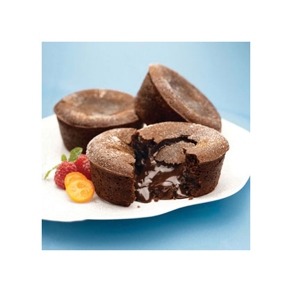 Molten Spiced Chocolate Cabernet Cakes