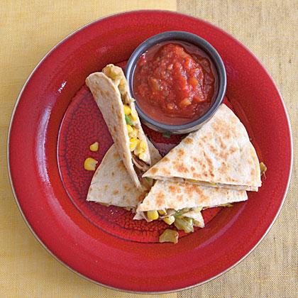 Corn and Chile Quesadillas