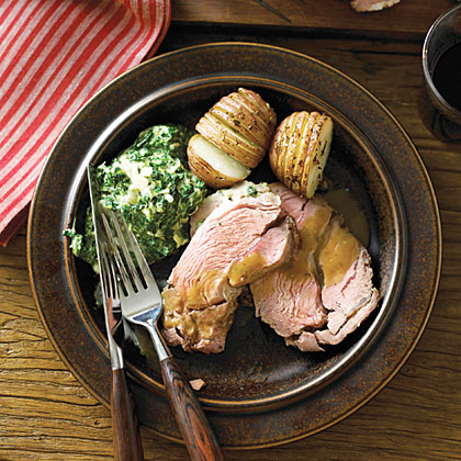 Lamb Shoulder Roast with Roasted Garlic Sauce