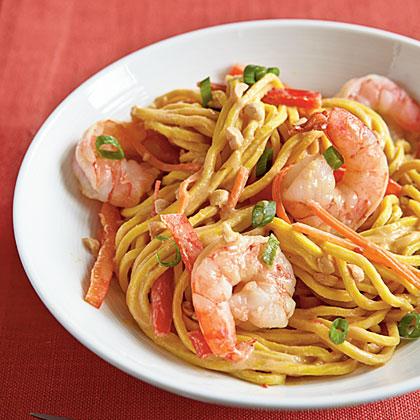 Cold Peanut Noodles with Shrimp