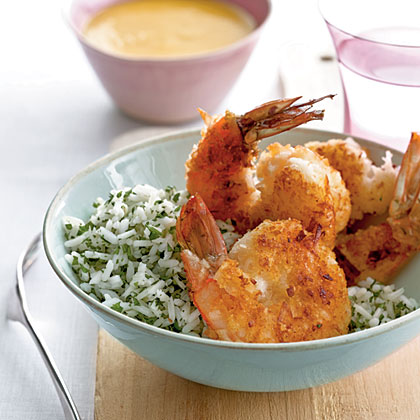 Coconut Shrimp with Fiery Mango Sauce