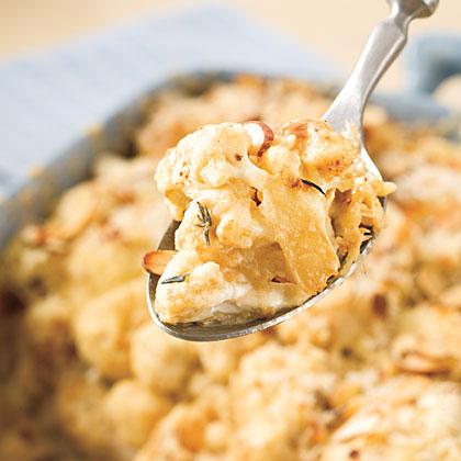 Cauliflower Gratin With Almond Crust