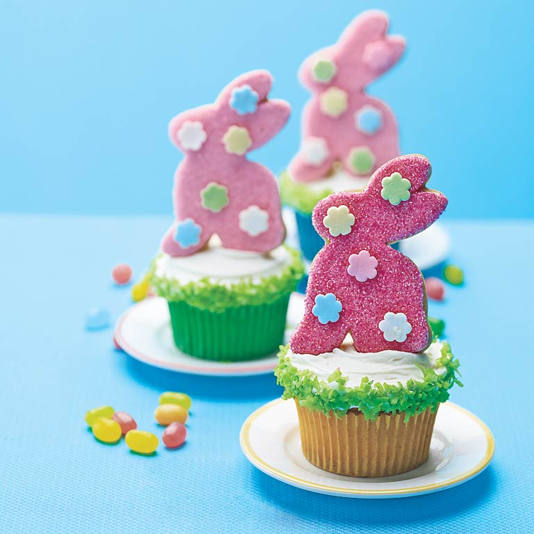 Bunny Cookie Cupcakes