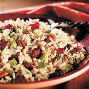 Cranberry Brown Rice Dressing
