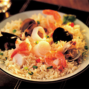 Pacific Rim Rice with Seafood