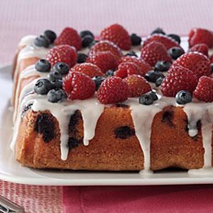 Mixed Berry Pound Cake