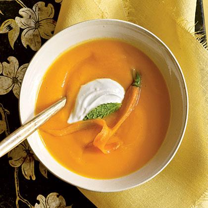 Carrot Soup with Yogurt
