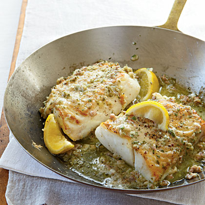 Roast Cod With Garlic Butter Recipe Myrecipes