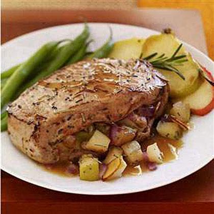Honey-Rosemary Stuffed Pork Chops