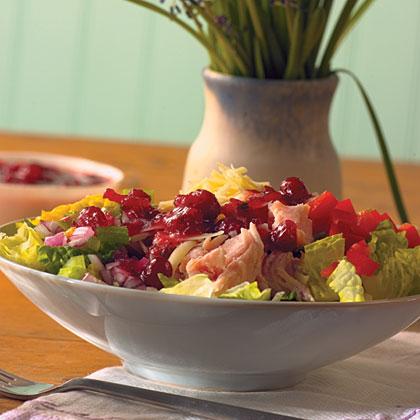 Turkey Cobb Salad with Cranberry Vinaigrette
