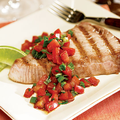 Grilled Tuna Steak with Fresh Salsa
