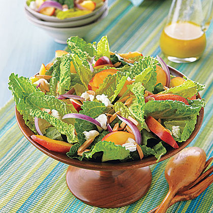 Nectarine, Goat Cheese and Almond Salad