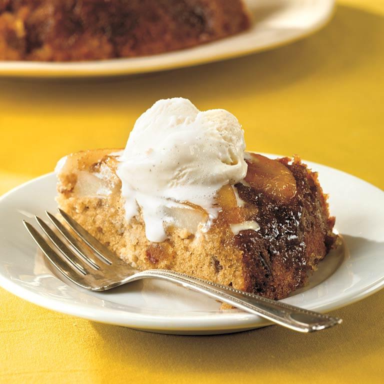 Pear-Date Upside-Down Cake
