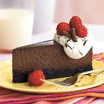 Raspberry-Chocolate Truffle Cheesecake