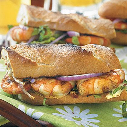Grilled Shrimp Po'Boy