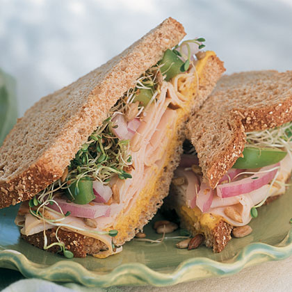 Turkey Stack-Ups with Sweet Curry Mustard Spread