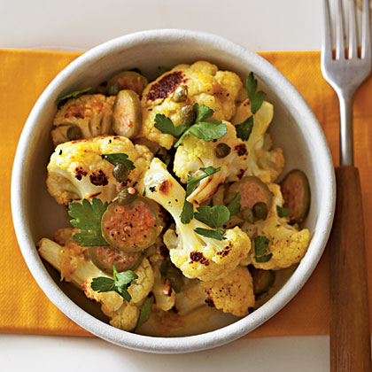 Curried Cauliflower with Capers