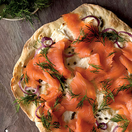 Smoked Salmon Thin-Crust Pizza