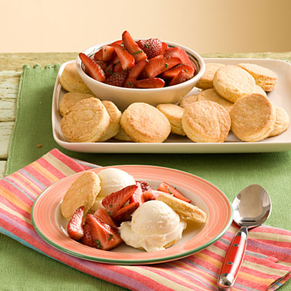 Lemon Ice-Cream-Strawberry Shortcake