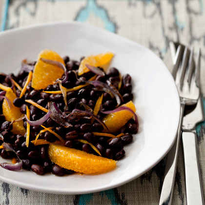 Warm Black Bean and Orange Salad