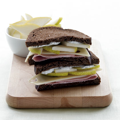 Ham, Sliced Pear & Swiss Sandwich