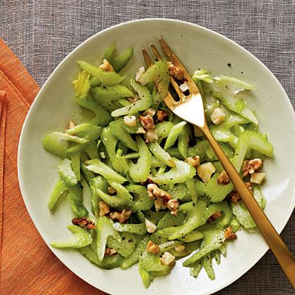 Celery, Walnut, and Parmesan Salad